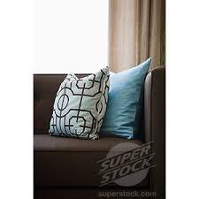 detail blue throw pillows on chocolate brown sofa polyvore