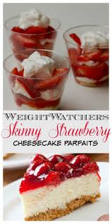 Weight Watchers Pumpkin Fluff Smartpoints by Skinny No Bake Strawberry Cheesecake Dessert Parfaits Recipe