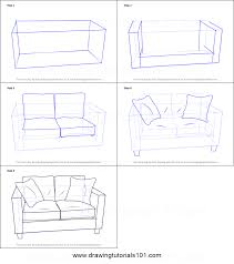 How To Draw Love Seats Sofa Printable Step By Drawing Sheet DrawingTutorials101