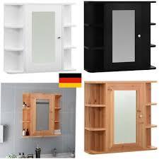 badezimmer spiegelschrank mit regal in eiche landhaus 50 cm