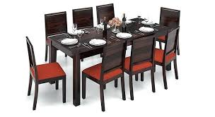 8 Seat Tables Contemporary Black Glass Dining Set Delivery Seats