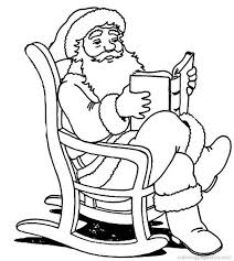 Father Christmas Pictures To Colour 1385341