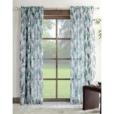 shop allen roth verlette 84 in blue polyester rod pocket light