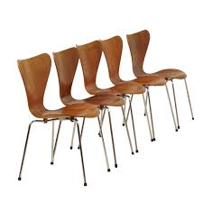 100 Fritz 5 Set Of Butterfly Dining Chairs In Teak By Arne Jacobsen For Hansen