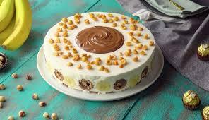 banana hazelnut mascarpone cake the ultimate no bake