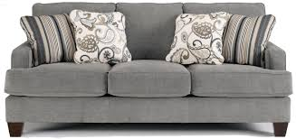 Yvette Steel Stationary Sofa w Loose Seat Cushions by Ashley Furniture