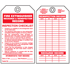 Maintenance Recharge Record Tag Source 27 Images Of Fire Extinguisher Checklist Template Monthly Calendar Inspection