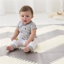 skip hop skip hop playspot geo foam floor tiles grey cream