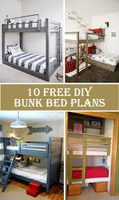 10 free diy bunk bed plans cool diys