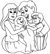 Trend Family Coloring Pages 80 For Kids Online With