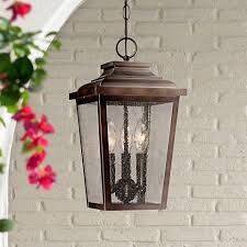 Irvington Manor 15 1 2 High Bronze Outdoor Hanging Light