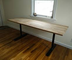 Ikea Galant Corner Desk Manual by Butcher Block Countertop Table Ikea Hack 4 Steps With Pictures