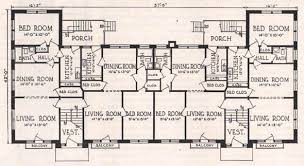 Floor Plan For One Of The Spanish Court Apartment Buildings