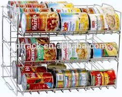 Kitchen Soup Can Food Rack Chrome Holder Storage Cabinets Pantry