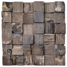 gallon reclaimed wood tiles 10 76 sq ft rustic wall panels