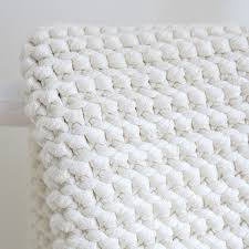 handgestrickter badteppich aus baumwolle