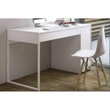 bureau avec tiroir bureaux meubles et rangements temahome prado bureau blanc mat