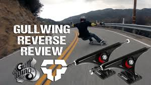 Gullwing Reverse Longboard Trucks Rider Review - Tactics.com - YouTube