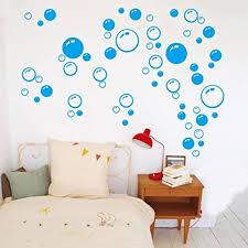 transer diy aufkleber kreisförmige blasen ablösbar für wand tapete badezimmer fenster sticker selbstklebend pvc blau one size