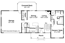 Fresh Single Level Ranch House Plans by Ranch House Plans Gatsby 30 664 Associated Designs