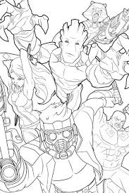 Guardians Of The Galaxy Coloring Page