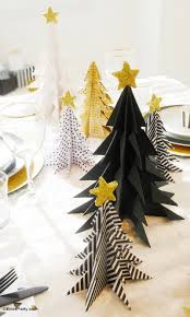 Donner And Blitzen Christmas Tree Ornaments by My Black U0026 Gold Christmas Party Tablescape Origami Christmas