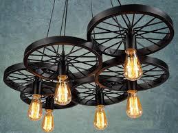 6 Wheels Pendant Light Industrial For Bar