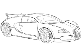 Car Coloring Pages Bugatti Veyron