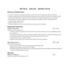 Resume Retail Example Store Examples Associate