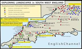 Exploring Landscapes In South West England Map