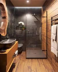 badezimmer naturholzlook und regenwalddusche