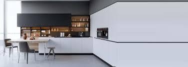 cuisine blanc et noir decoration cuisine mélangez le noir le blanc et le bois