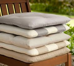 Pottery Barn Napoleon Chair Cushions by Great Tufted Outdoor Dining Chair Cushion Solid Pottery Barn