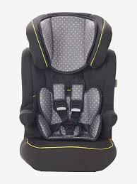 siege isofix 1 2 3 vertbaudet kidsit isofix car seat 1 2 3 grey print