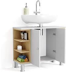 vicco aquis vanity unit white oak bathroom cabinet bathroom