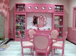 Sweet Hello Kitty House With Pink Interior Decoration Side Chairs