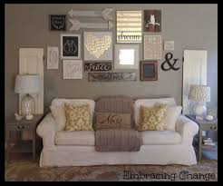 Living Room Intellectual Gray Collage Walls Within Wall Ideas Remodel 5