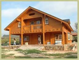 chalet construit en ou simple madriers en bois massif