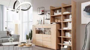 interliving wohnzimmer serie 2105 wohnwand in1 weißer