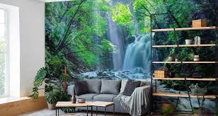 muralo fototapete natur 254 b x 184 h cm vlies tapete wandtapeten wasserfall felsen bäume pflanzen wohnzimmer schlafzimmer moderne wandbilder