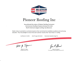 roofing certification the s le maintenance booklet here