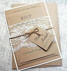 Shabby Chic Wedding Invites Rustic Invitation Lace Sample