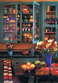 Colorful Bauer and Catalina Pottery Dinnerware Display I love all