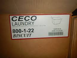 Ceco Stainless Steel Sinks by Ceco Model 800 1 22 Cast Iron Laundry Sink Color Biscuit