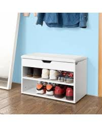 Bench Shoe Storage by Check Out These Bargains On Sobuy Fsr25 W Wooden Shoe Cabinet 2