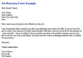 post interview rejection letter Londaitishcollege