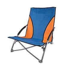 Alps Mountaineering Chair Amazon by Amazon Com Stansport Low Profile Fold Up Chair Blue Orange