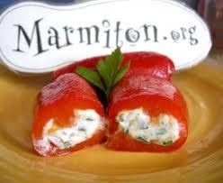cuisiner les poivrons rouges canellonis de poivrons au carré frais recette de