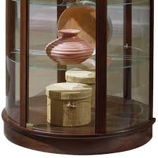 Amazon Coaster Curio Cabinet by Amazon Com Pulaski Half Round Curio 32 By 17 By 76 Inch Brown