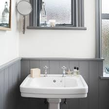 Mercury Glass Bathroom Accessories Uk by White And Grey Bathroom With Traditional Basin Grey Bathrooms